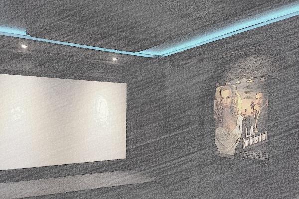 Heimkino Bauskizze und Zeichnung