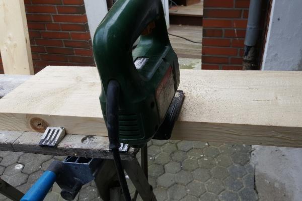 Holzzuschnitt der Kanthölzer